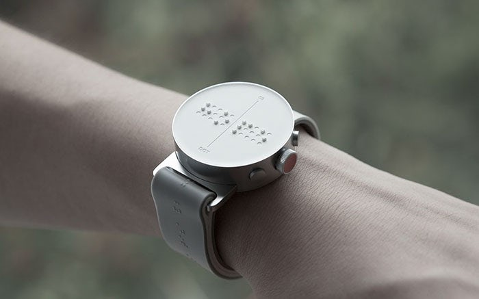 blind people braille smartwatch dot 7