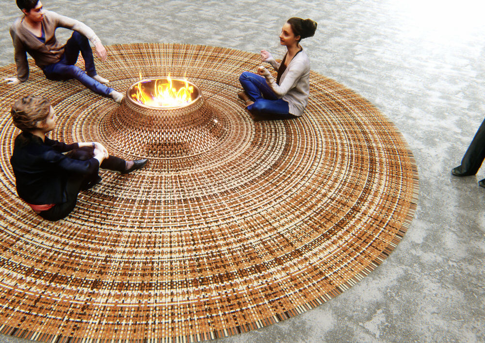 Domestic Gathering Carpet Fire by Stephanie Langard