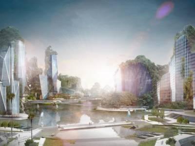 Стеклянные небоскребы предложили встраивать в естественный карстовый ландшафт