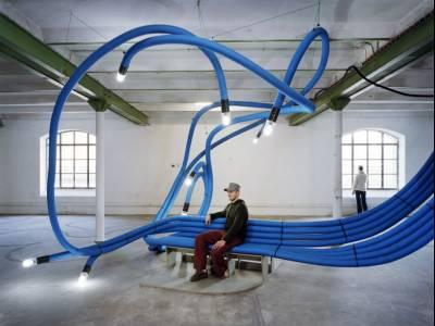 Себастьян Вайеринк (Sebastian Wierinck) — дизайнер использующий пластиковые трубы для создания зоны отдыха