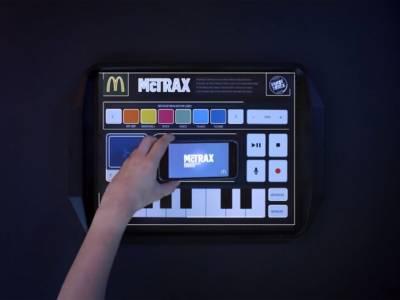 Бумажные салфетки McDonald's позволяющие записывать музыку