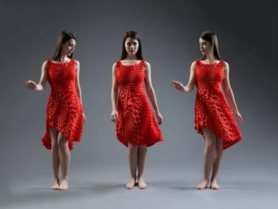 Платье из кинематических лепестков