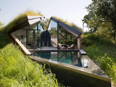 Дом Edgeland Residence на берегу реки Колорадо от компании Bercy Chen Studio