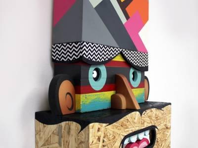 3d граффити из дерева от Алекса Янеса (Alex Yanes)