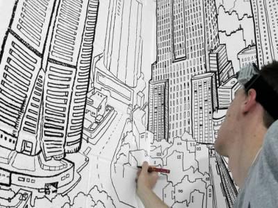 """Художественный проект """"Global City"""" от молодого граффитиста Deck Two"""