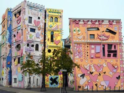 Счастливый дом Рицци (Happy Rizzi House) - красочное здание на окраине Брауншвейга