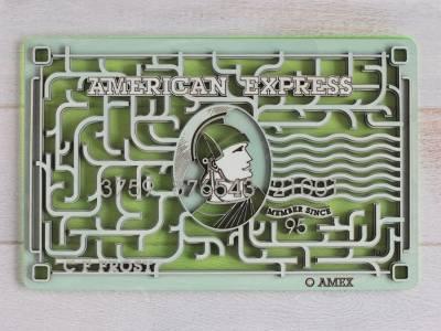 Карты American Express от дизайнера Vincent Viriot