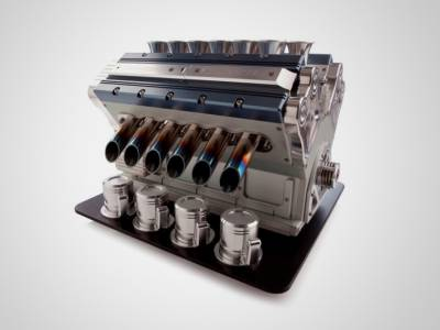 Кофемашина в виде двигателя v12