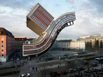 Виктор Энрих (Victor Enrich) превращает свои снимки архитектуры в причудливые конструкции