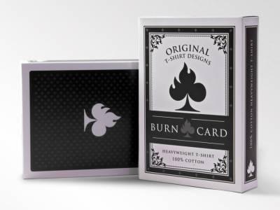 Оригинальная упаковка для футболок бренда Burn Card Clothing