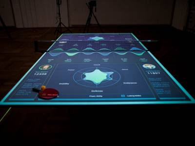 Интерактивный стол для пинг-понга от Томаса Майера