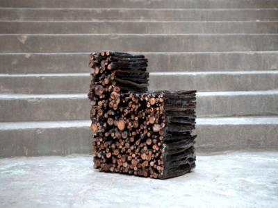 Необычный стул из веток, склеенных между собой эпоксидной смолой от Yoon-ki Lee