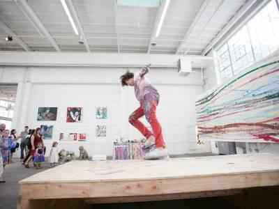 Картины нарисованные скейтбордом от художника Мэтта Рейли (Matt Reily)