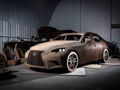 Lexus представит собой автомобиль, сделанный из картона.