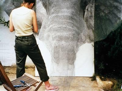 Проволочные скульптуры животных от Кендры Хэйст