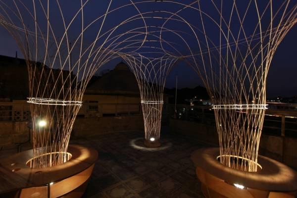 Уличные фонари из бамбука от дизайн-студии Miso Soup Design