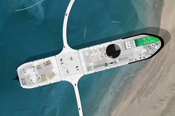 Архитекторы предлагают превратить нефтяные танкеры в плавучие деревни