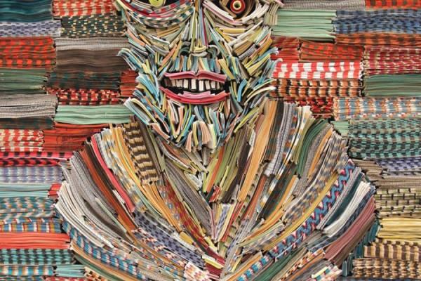 Газетные инсталляции Ника Джорджиу(Nick Georgiou)