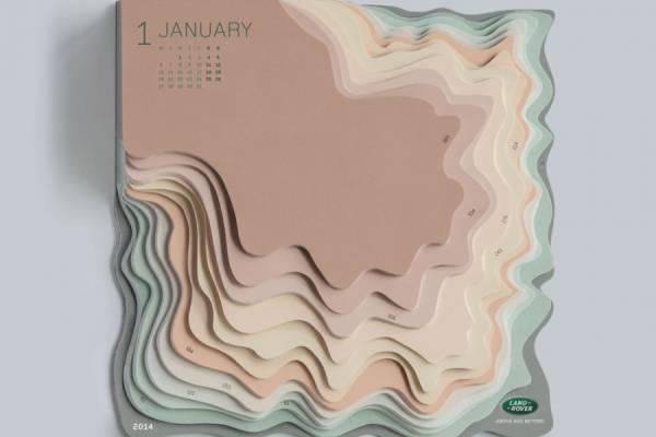 Необычный календарь для компании Land Rover от Zeynep Orbay