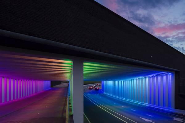 Иммерсивная световая инсталляция в тоннелях города Зютфен от Herman Kuijer