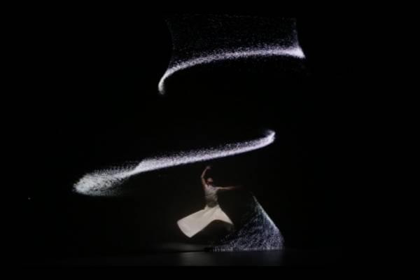 Движение воздуха - спектакль с видео маппингом