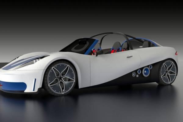 Каким будет дизайн полноценного автомобиля, напечатанного на 3D-принтере?