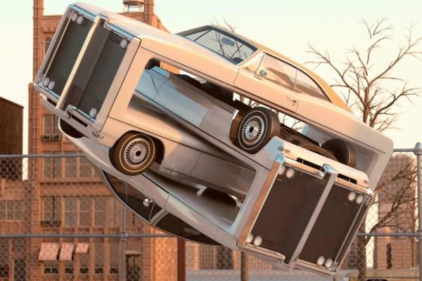 Автомобильная аэробика от художника из Британии Криса Лабруя(Chris LaBrooy)