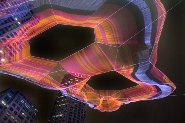 Удивительные городские инсталляции от Джанет Эчельман (Janet Echelman)