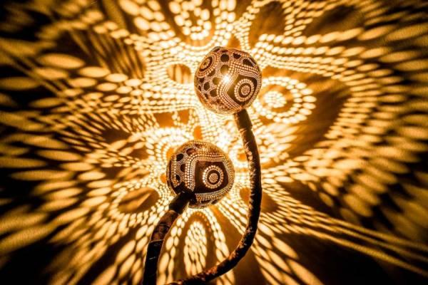 Кокосовые лампы от дизайнера Вайнюса Кубилиуса (Vainius Kubilius)