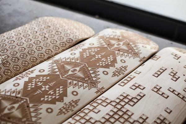 Красивая резьба на скейтбордах от компании «Magnetic Kitchen»