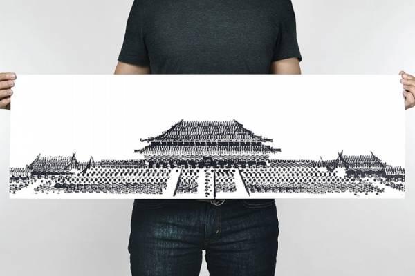 Картины велосипедными шинами от Томаса Янга (Thomas Yang)