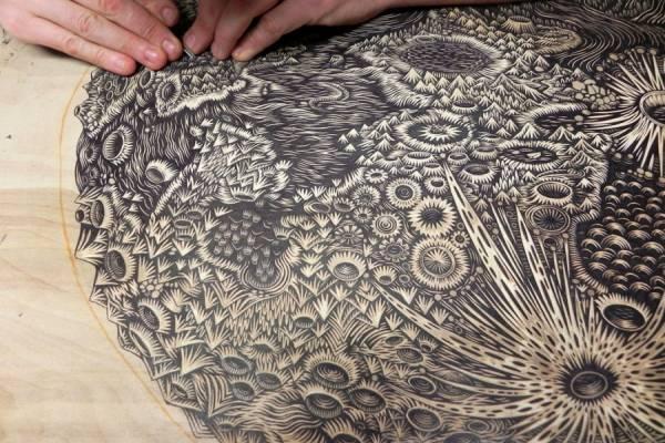 Потрясающая ксилография от арт-студии Tugboat Printshop