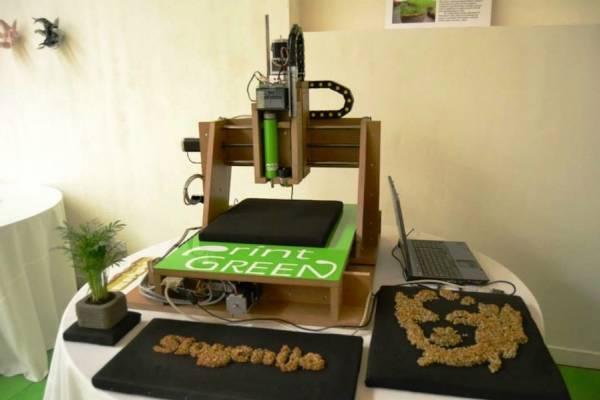 """PrintGREEN - 3D-принтер, печатающий """"зеленые"""" живые надписи и рисунки"""