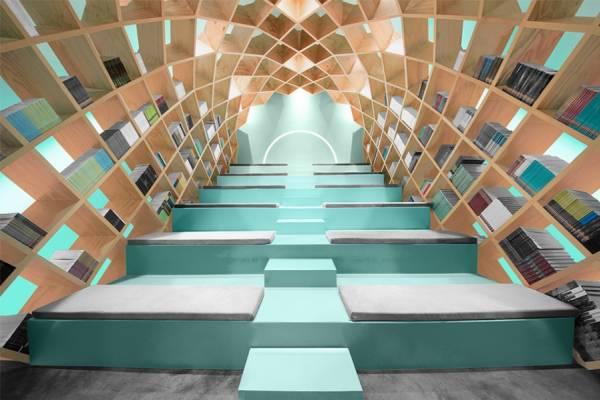Оригинальный дизайн библиотеки от студии Anagrama
