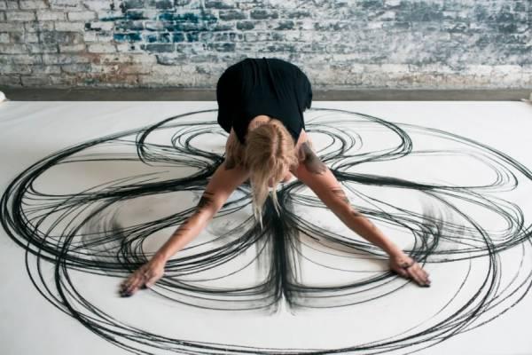 Рисунки телом художницы Хизер Хансен (Heather Hansen)