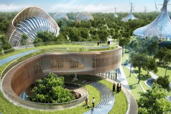 Концепция экологически направленного строительства в The Flavours Orchard, Китай.