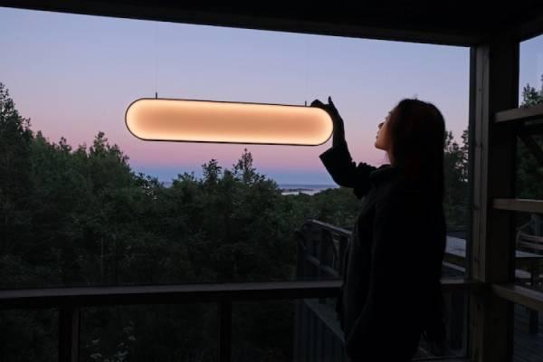 Идеальный закат с помощью солнечной лампы Sunne