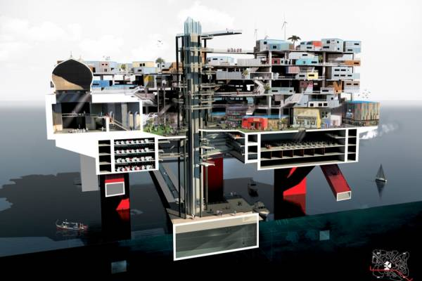 Новозеландский дизайнер предложил заменить тонущие острова плавучими городами