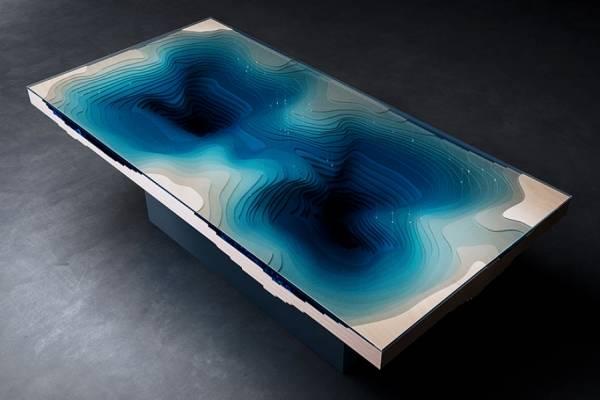 Обеденный стол, напоминающий океанские глубины от Duffy London